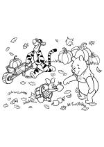 Раскраска - Винни-Пух (Дисней) - Тигра, Пятачок и Винни-Пух