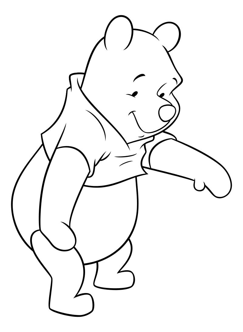 Раскраска - Винни-Пух (Дисней) - Винни-Пух