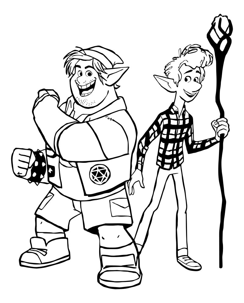 Раскраска - Вперёд - Барли и Иэн
