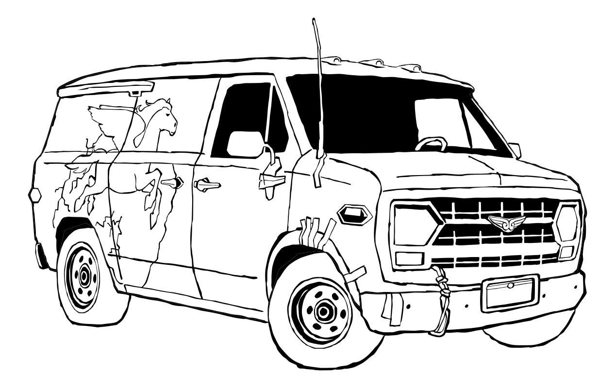 Раскраска - Вперёд - Фургон Гвиневра