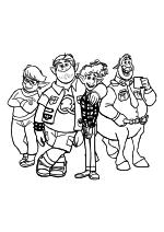 Раскраска - Вперёд - Лорел, Барли, Иэн и Кольт Бронко