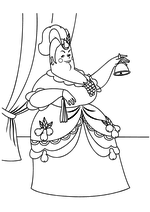 Раскраска Мачеха Золушки