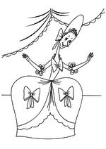 Раскраска Первая сестра Золушки