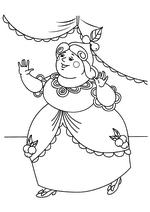 Раскраска Вторая сестра Золушки