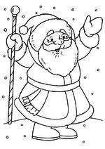 Раскраска - Новый год - Дед Мороз рад встрече