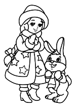 Снегурочка и Зайчик