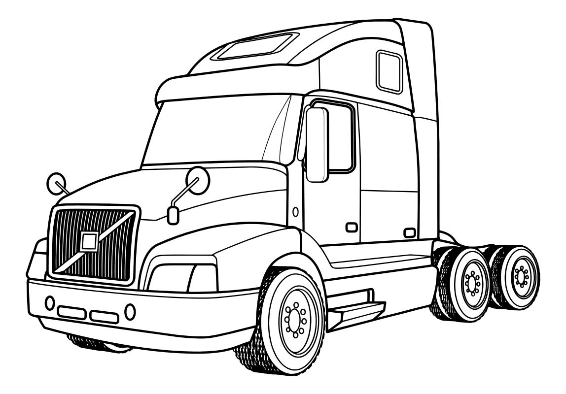 Раскраска - Грузовые автомобили - Тягач - Volvo VNL64T660 ...