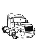 Раскраска - Грузовые автомобили - Тягач - Freightliner Century FLC