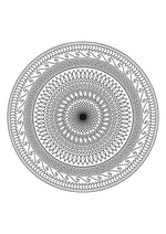 Раскраска - Мандалы - Мандала 1