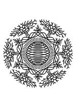 Раскраска - Мандалы - Мандала 3