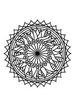 Раскраска - Мандалы - Мандала 4