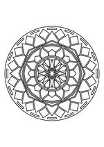 Раскраска - Мандалы - Мандала 12