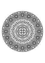 Раскраска - Мандалы - Мандала 13