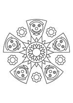Раскраска - Мандалы - Мандала 15