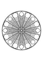 Раскраска - Мандалы - Мандала 18