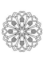 Раскраска - Мандалы - Мандала 19