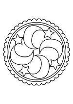 Раскраска - Мандалы - Мандала 26 - Месяцы