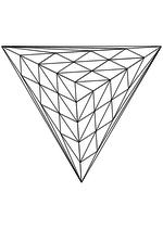 Раскраска - Математические фигуры - Веер Грёбнера 1