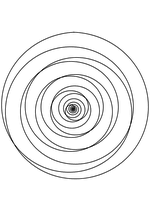 Раскраска - Математические фигуры - Архимедова и экспоненциальная спирали