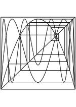 Раскраска - Математические фигуры - Паутинообразная схема логистической карты 1