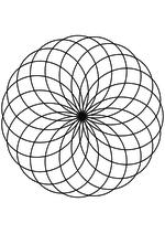 Раскраска - Математические фигуры - Гипотрохоида