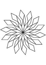 Раскраска - Математические фигуры - Апериодическая симметричная разбивка 1