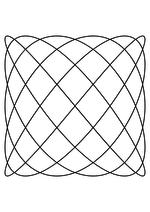 Раскраска - Математические фигуры - Фигура Лиссажу 5:6