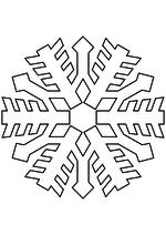 Раскраска - Снежинки - Снежинка 14