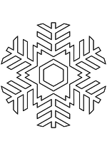 Раскраска - Снежинки - Снежинка 17