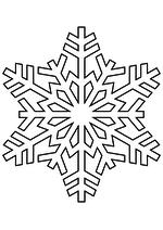 Раскраска - Снежинки - Снежинка 20