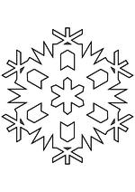 Раскраска - Снежинки - Снежинка 27