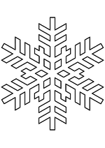 Раскраска - Снежинки - Снежинка 31