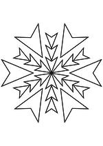 Раскраска - Снежинки - Снежинка 36