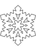 Раскраска - Снежинки - Снежинка 44