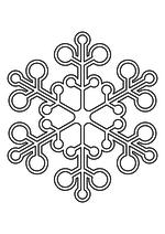 Раскраска - Снежинки - Ажурная снежинка из кругов 5