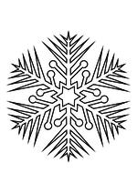 Раскраска - Снежинки - Снежинка 60