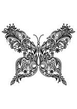 Раскраска - Узорные бабочки - Узорная бабочка 1