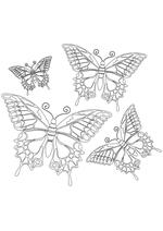 Раскраска - Узорные бабочки - Узорные бабочки 2