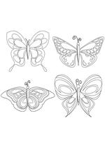 Раскраска - Узорные бабочки - Узорные бабочки 3