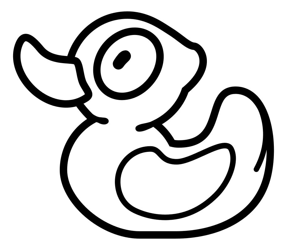 Раскраска - Крокодильчик Свомпи - Уточка Свомпи | MirChild