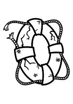 Раскраска - Крокодильчик Свомпи - Спасательный круг