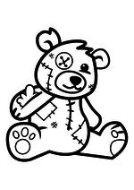 Раскраска - Крокодильчик Свомпи - Плюшевый мишка