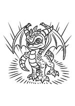 Раскраска - Скайлендеры - Дракон Спайро