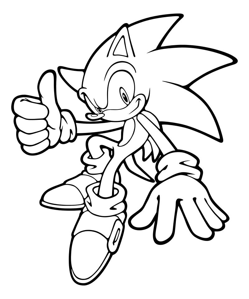 Раскраска - Sonic the Hedgehog - Ёж Соник | MirChild