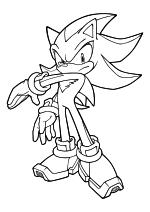 Раскраска - Sonic the Hedgehog - Ёж Шэдоу отвечает взаимностью