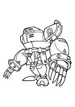 Раскраска - Sonic the Hedgehog - Робот Е-123 Омега