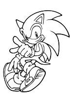 Раскраска - Sonic the Hedgehog - Ёж Соник может быстро бегать