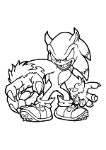 Раскраска - Sonic the Hedgehog - Ёж Соник - оборотень