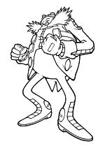 Раскраска - Sonic the Hedgehog - Доктор Эггман - заклятый враг Соника