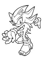 Раскраска - Sonic the Hedgehog - Ёж Шэдоу всегда действует быстро